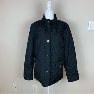 Charter Club NWT Quilted Jacket Black Size L